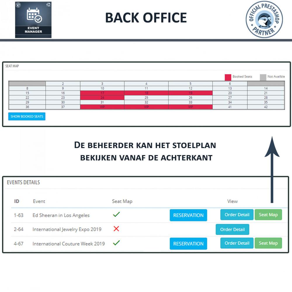module - Verhuur en reserveringen - Evenementen Manager, Maak Evenementen en Verkoop Ticket - 12