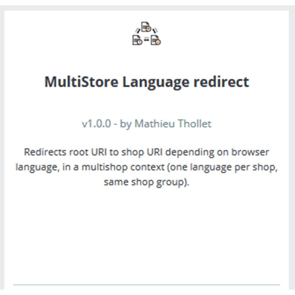 module - Międzynarodowość & Lokalizacja - Przekierowanie języka - Multi shop - 3