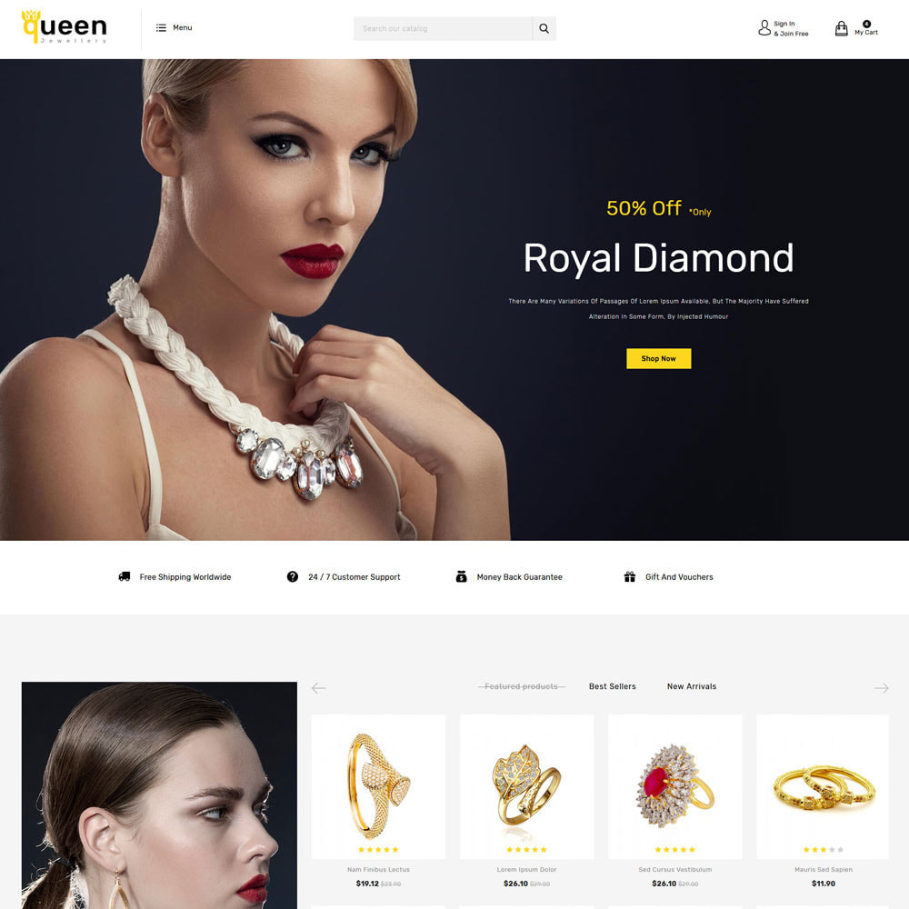 theme - Jewelry & Accessories - Queen jewellery Shop - 2