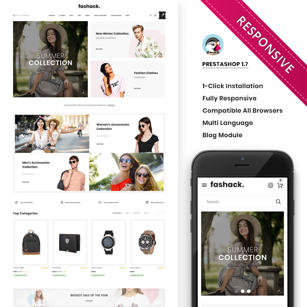 theme - Fashion & Shoes - Fashack - The Fashion Store - 1