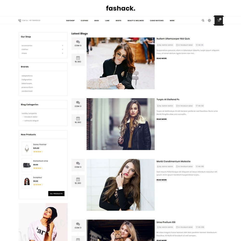 theme - Mode & Chaussures - Fashack - Le magasin de mode - 8