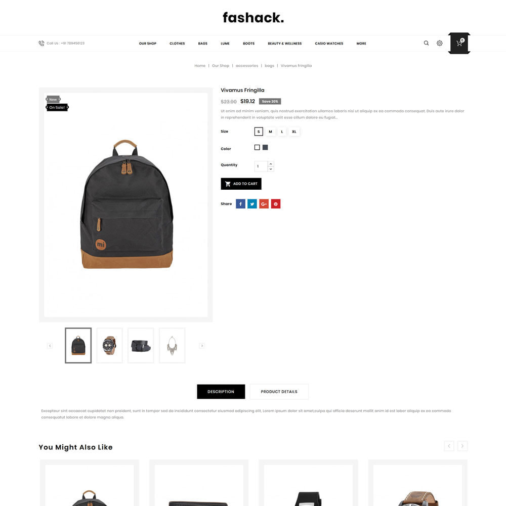 theme - Moda y Calzado - Fashack - La tienda de moda - 7