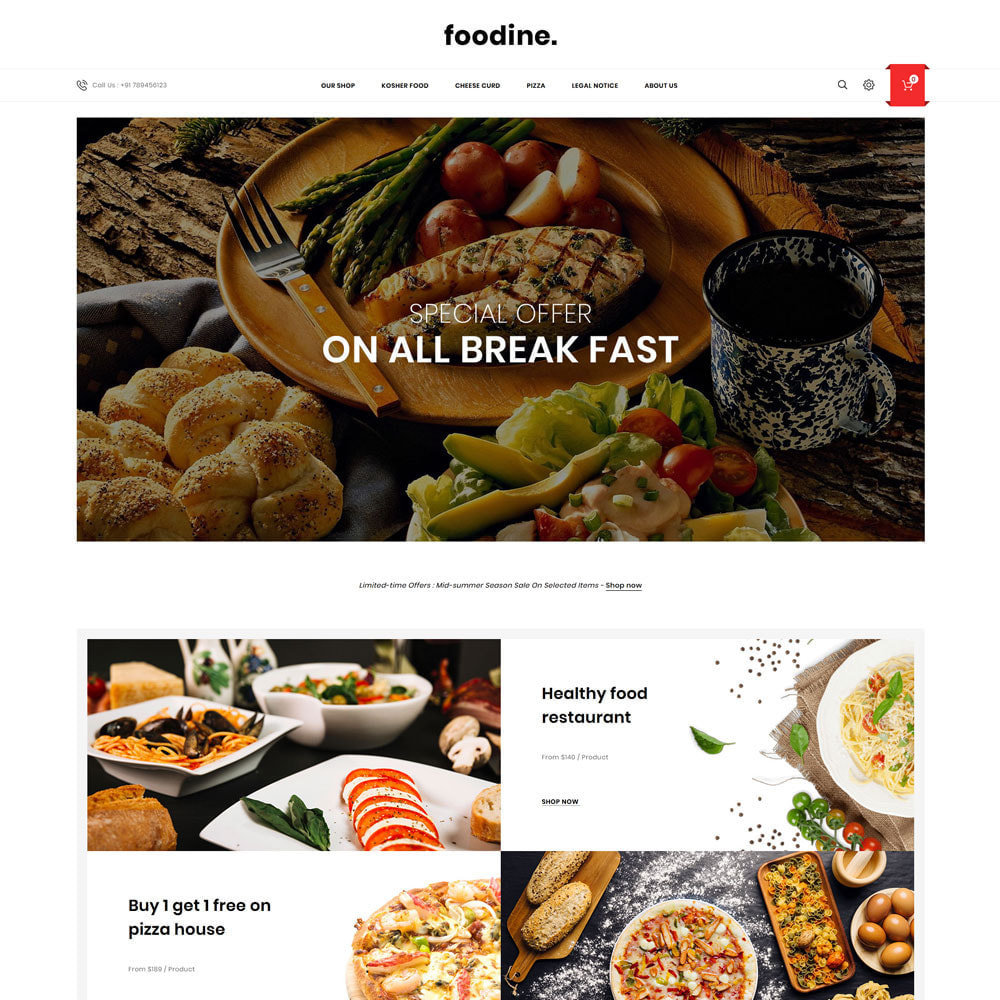 theme - Food & Restaurant - Foodine - The Mega Food Shop - 3
