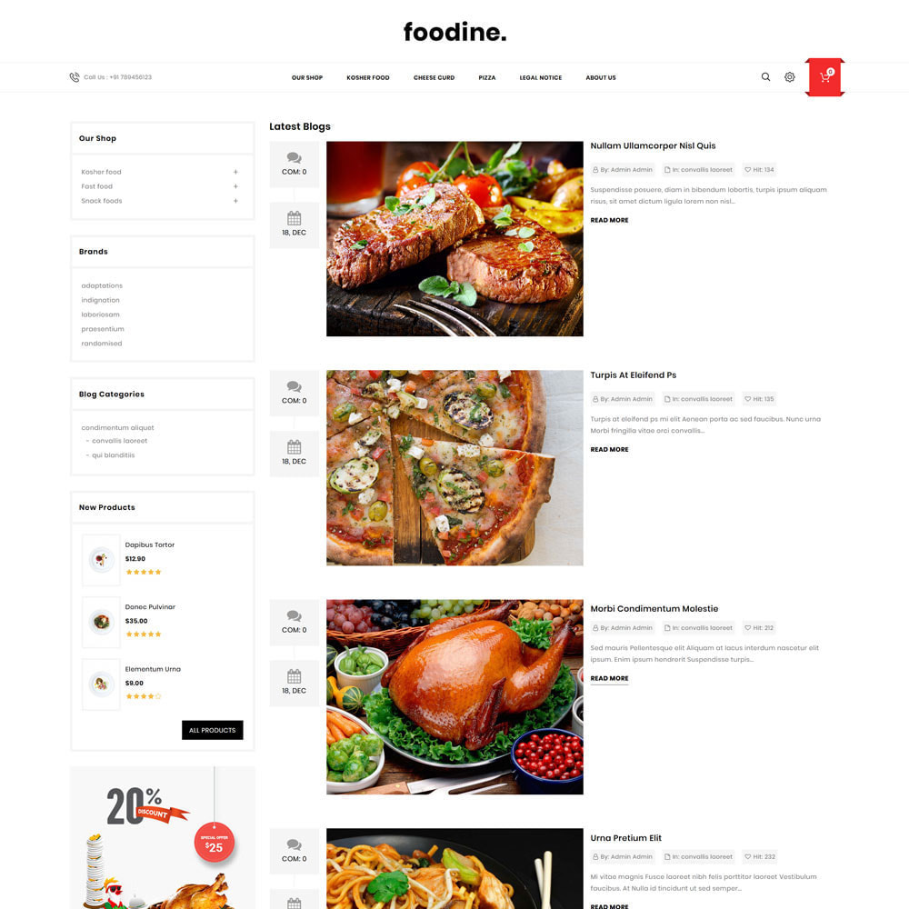 theme - Żywność & Restauracje - Foodine - The Mega Food Shop - 7