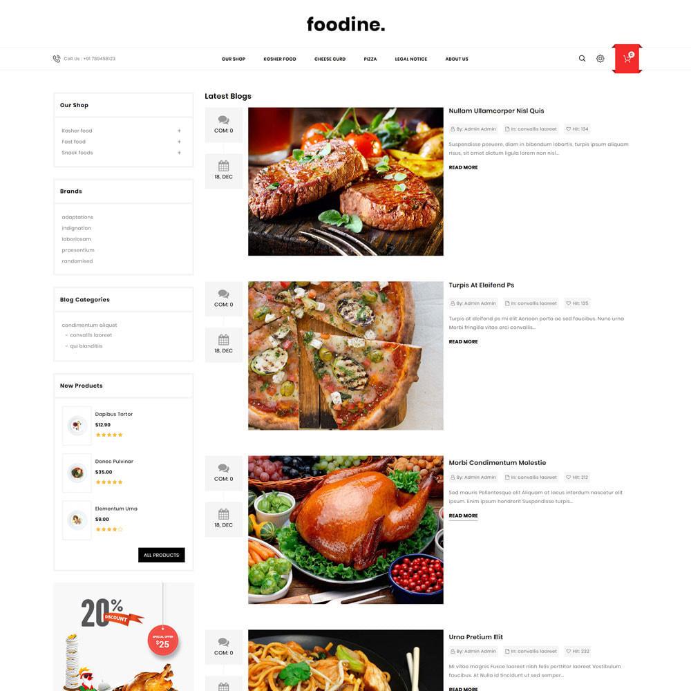 theme - Cibo & Ristorazione - Foodine - Il mega negozio di alimentari - 8