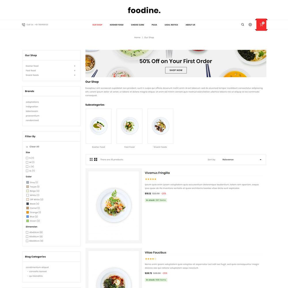 theme - Alimentation & Restauration - Foodine - Le magasin d'alimentation Mega - 6