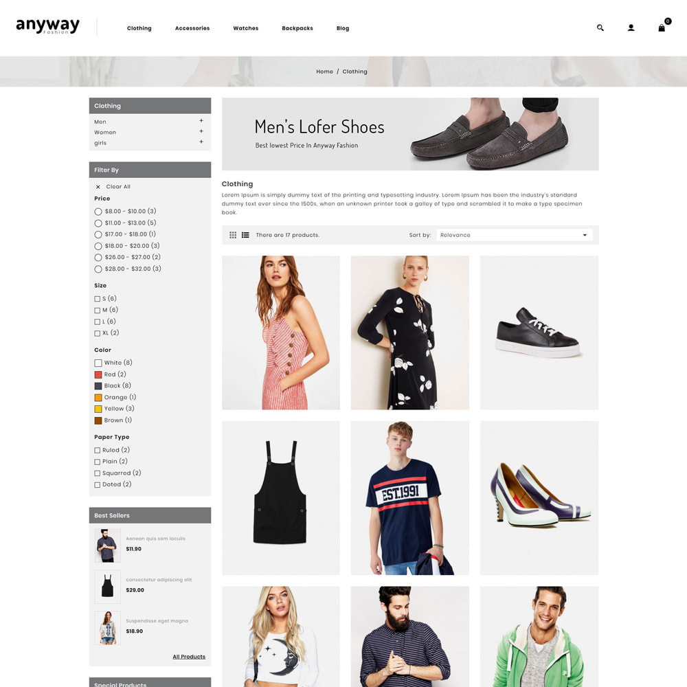theme - Mode & Chaussures - Anyway Fashion Shop - 3
