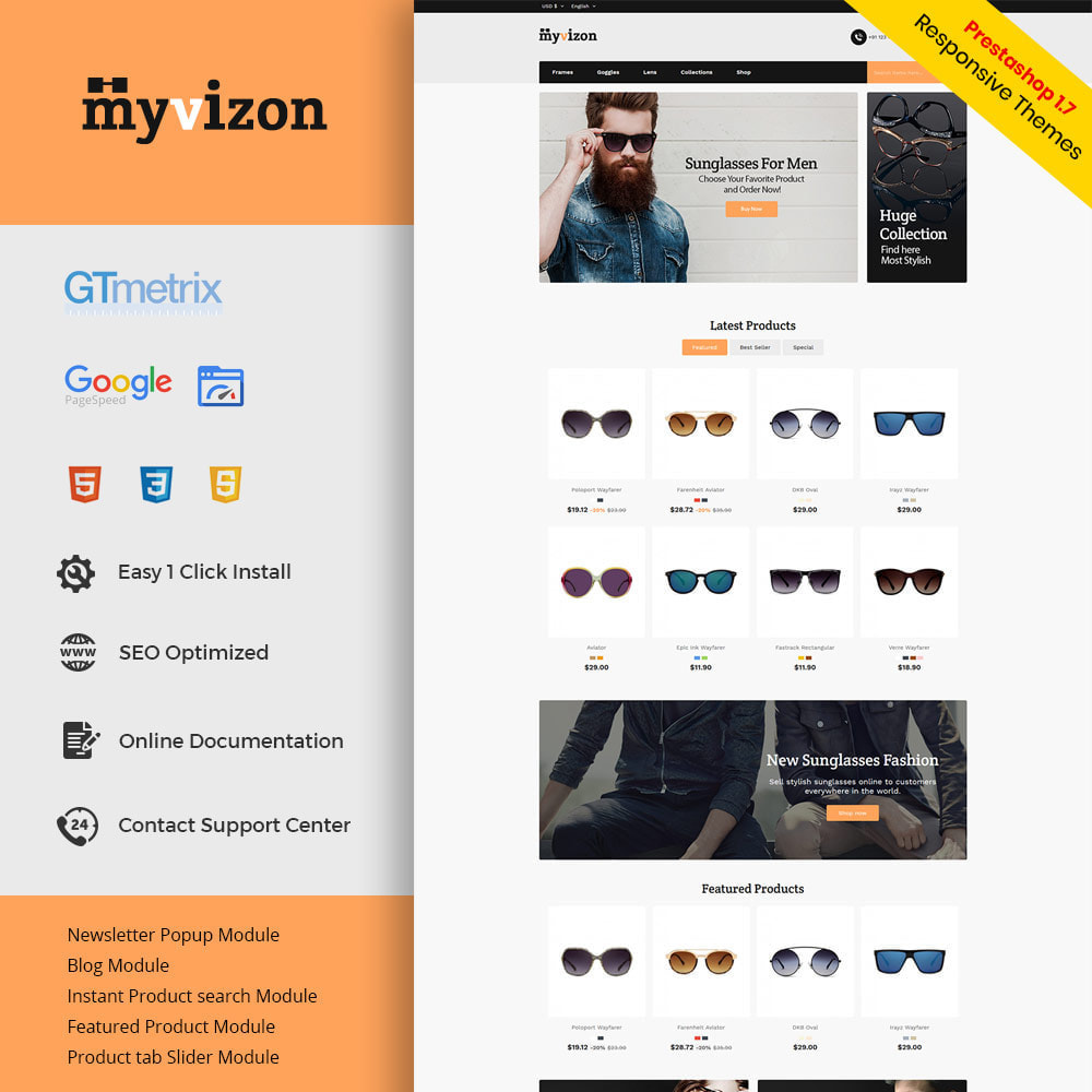 theme - Fashion & Shoes - Eye Sunglasses - Lens  Frame Glass Store - 1