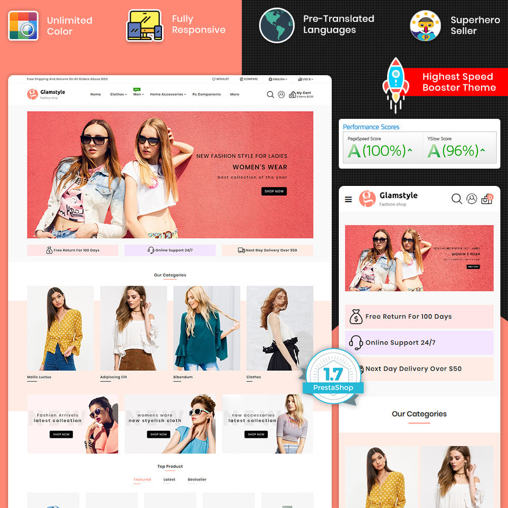 theme - Fashion & Shoes - Glamstyle - The Best Fashion Store - 1
