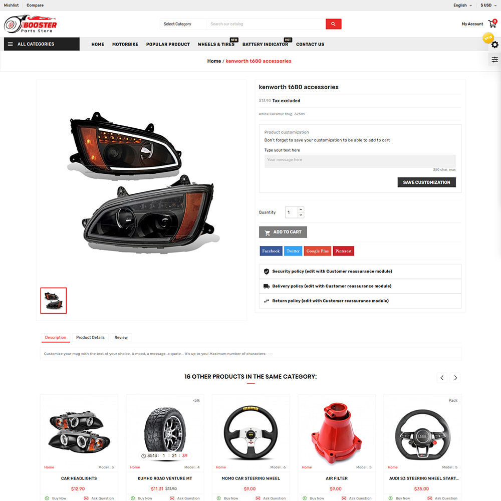 theme - Automotive & Cars - Booster Autopart Store - 4