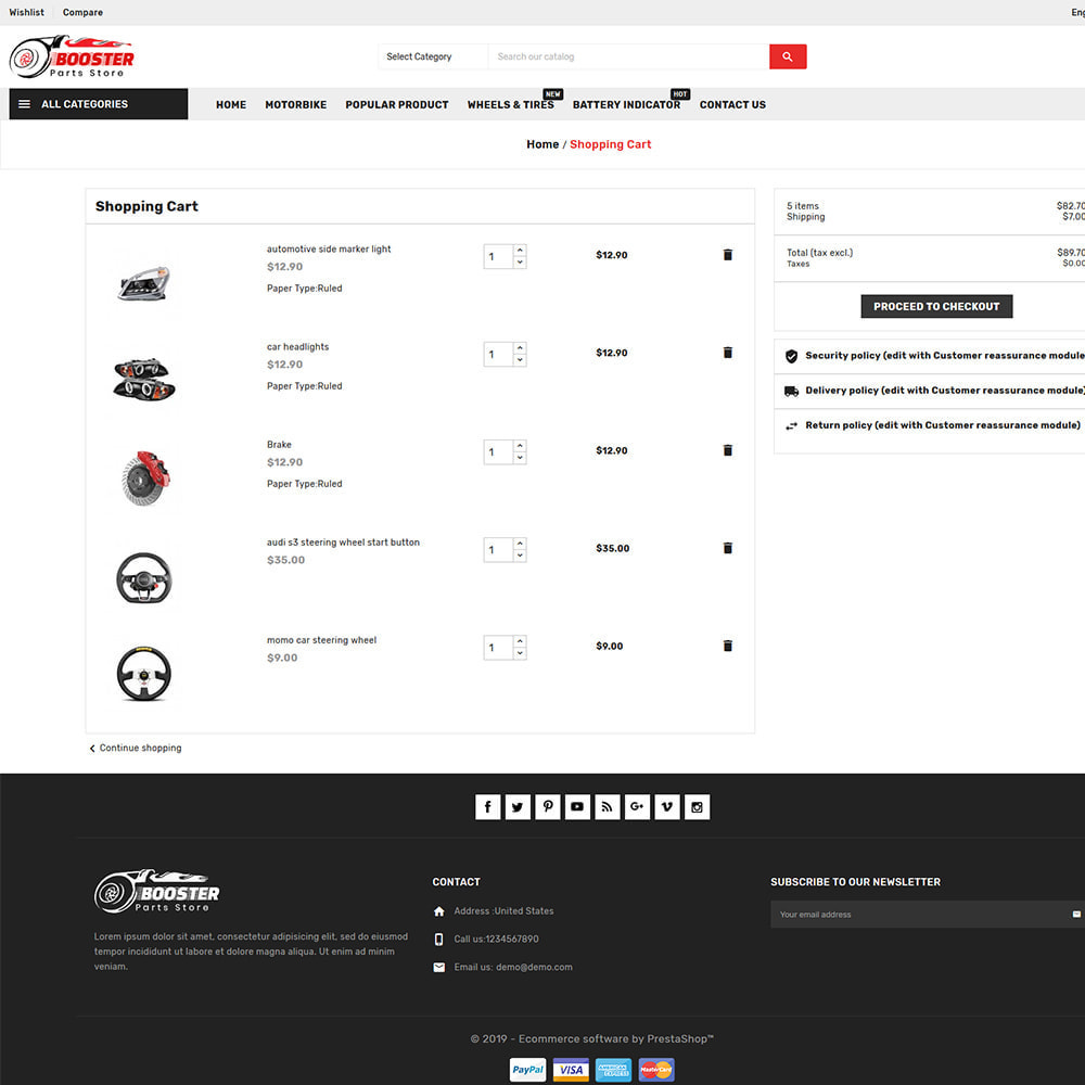 theme - Automotive & Cars - Booster Autopart Store - 7