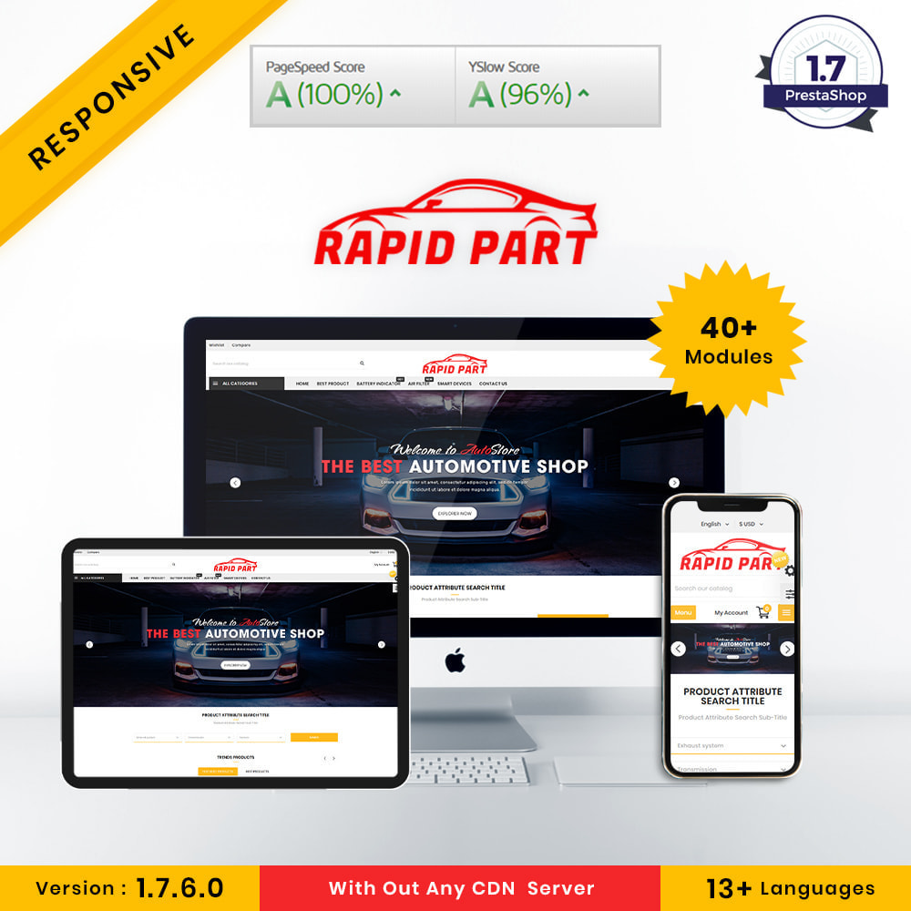 theme - Automotive & Cars - Rapid AutoPart Store - 1