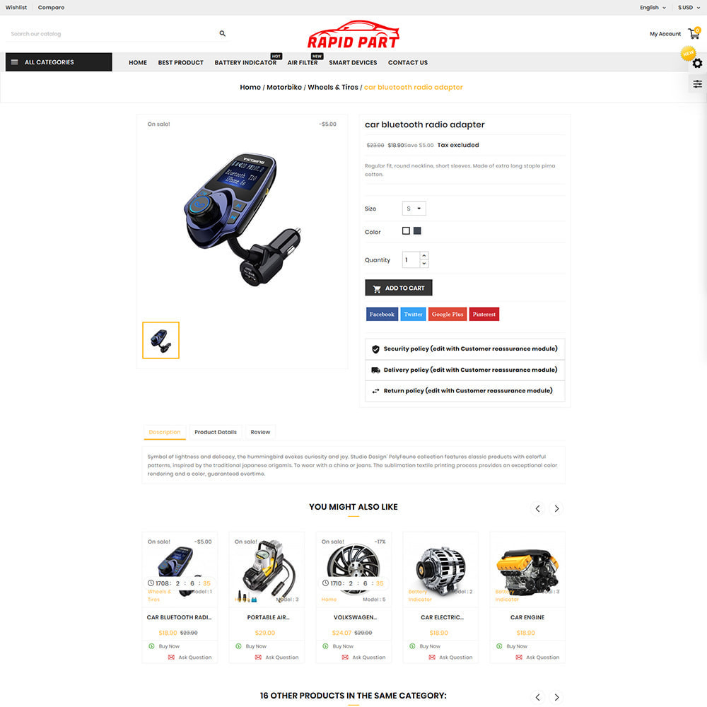 theme - Auto & Moto - Rapid AutoPart Store - 4