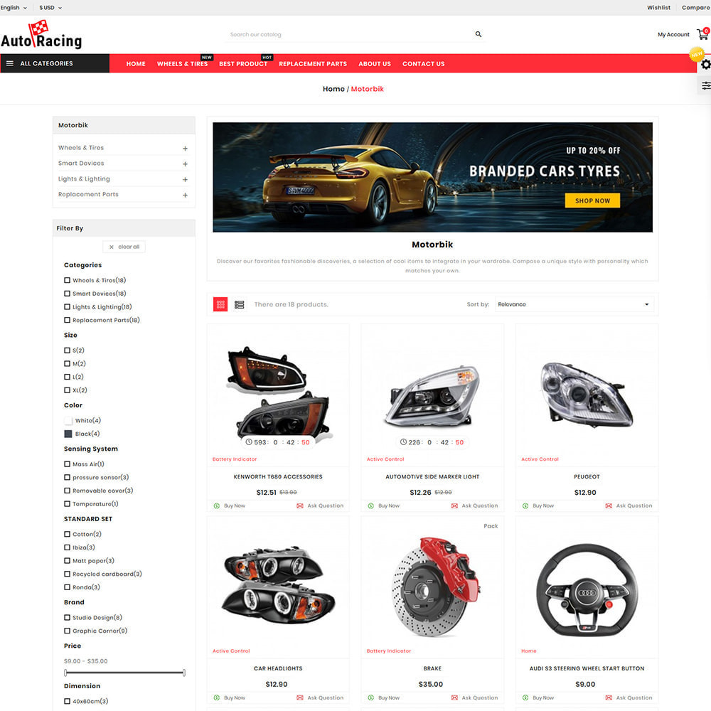 theme - Coches y Motos - Auto-Racing AutoPart Store - 2