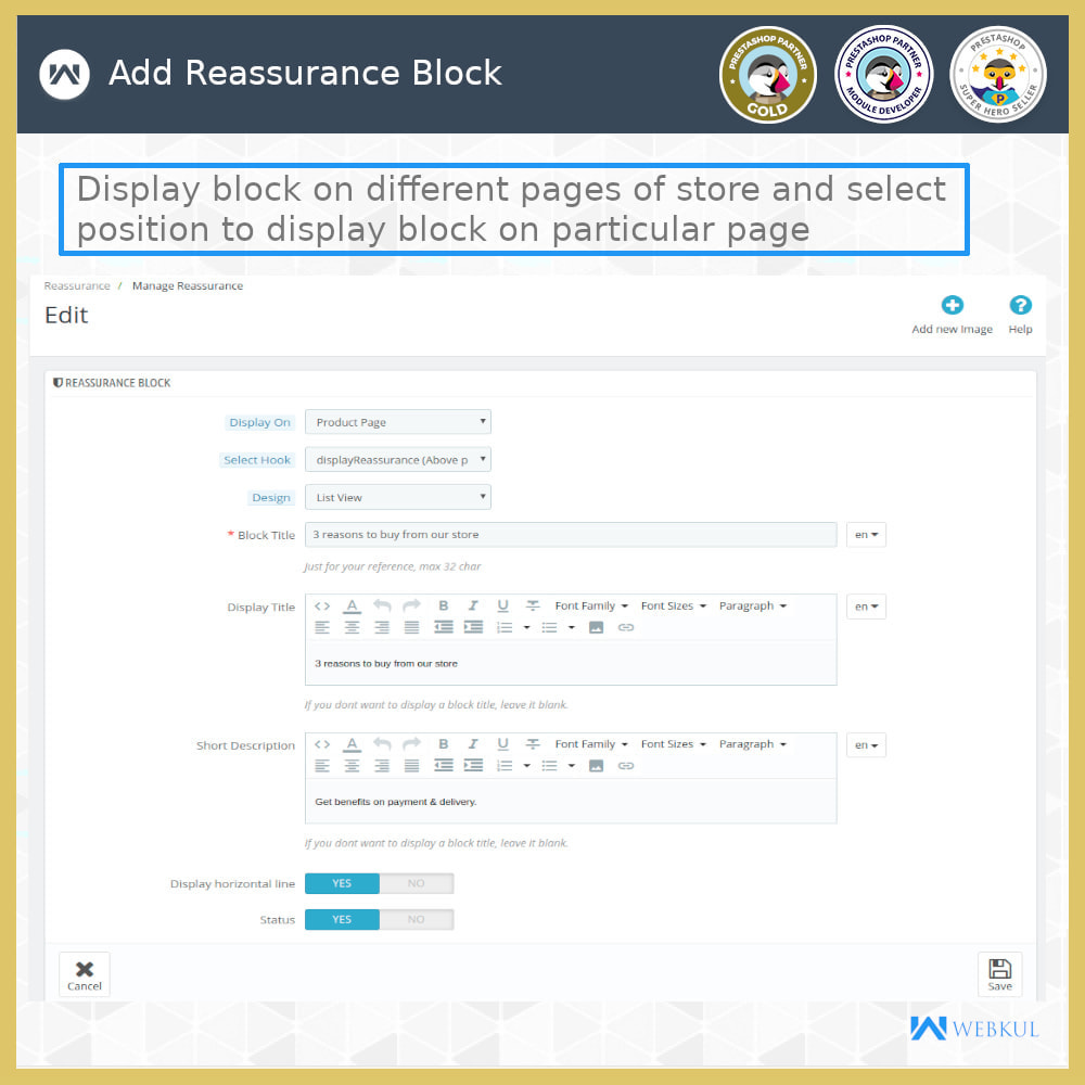 module - Blocos, Guias & Banners - Advance Reassurance Block - 6