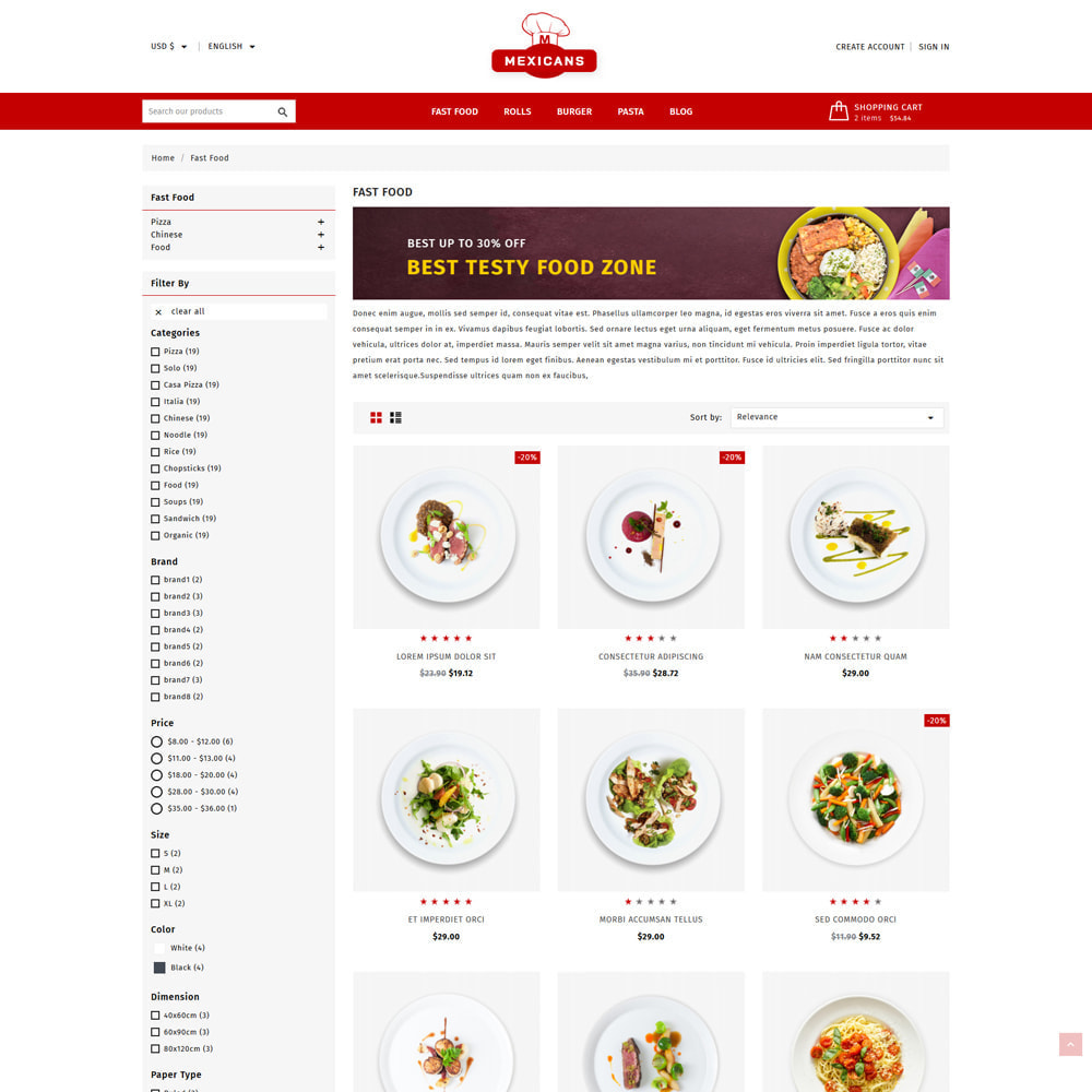 theme - Cibo & Ristorazione - Maxicans Food & Restaurant Shop - 3