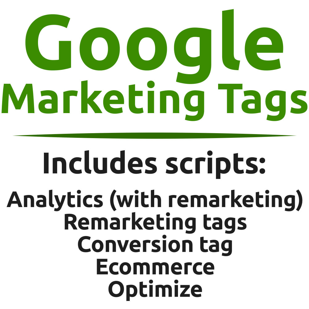 module - Статистика и анализ - Google Re-Marketing Tags (Multiple dynamic scripts) - 1