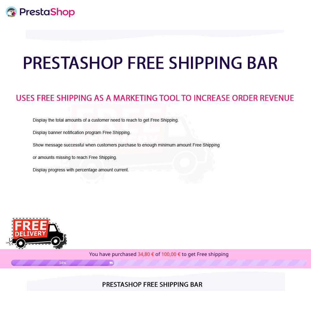 module - Blocos, Guias & Banners - Free Shipping Bar - 10