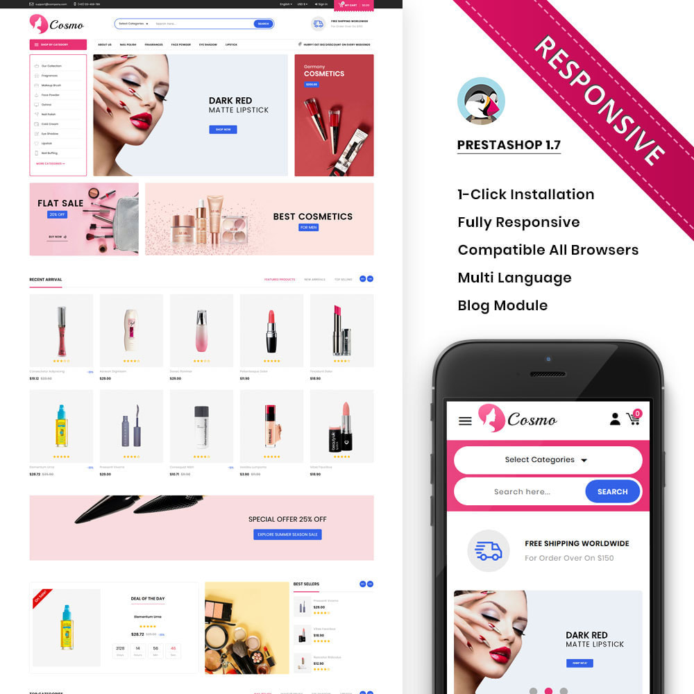 theme - Health & Beauty - Cosmo - The Mega Cosmetic Store - 1