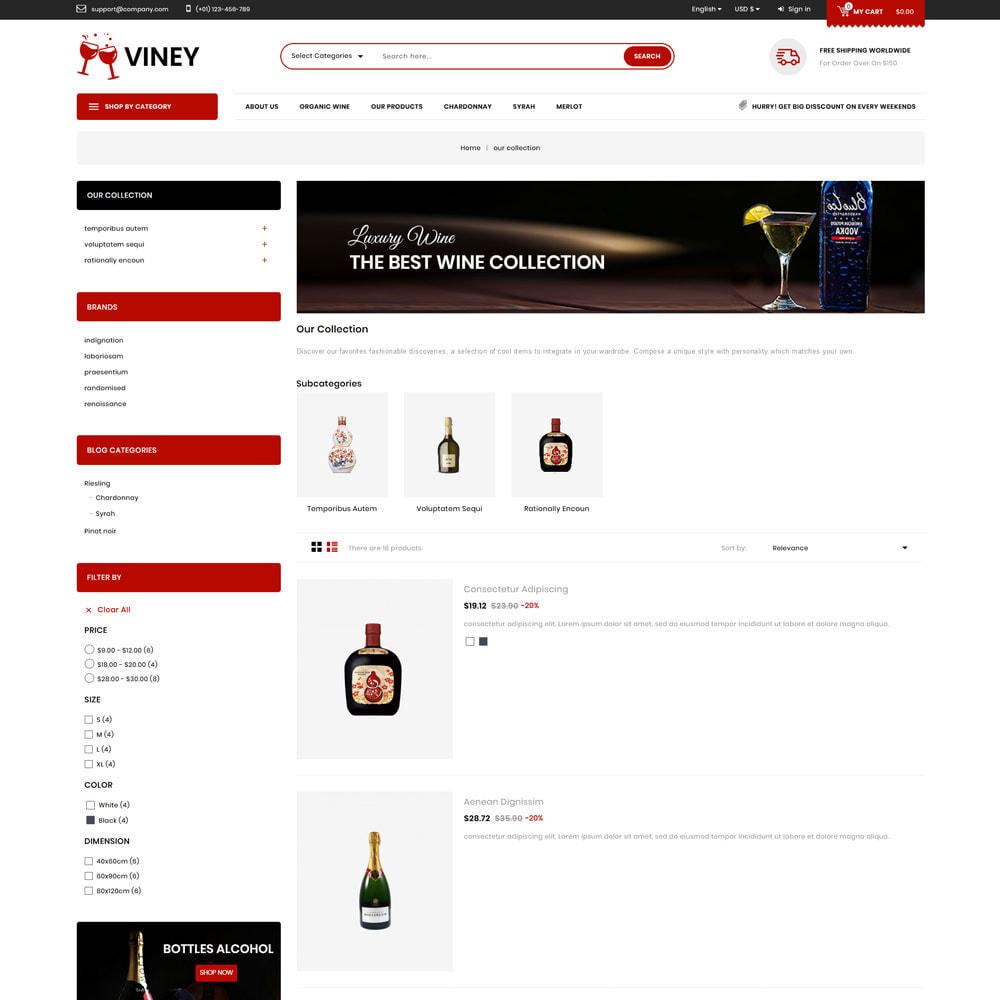 theme - Alimentation & Restauration - Viney - La Mega Wine Shop - 5