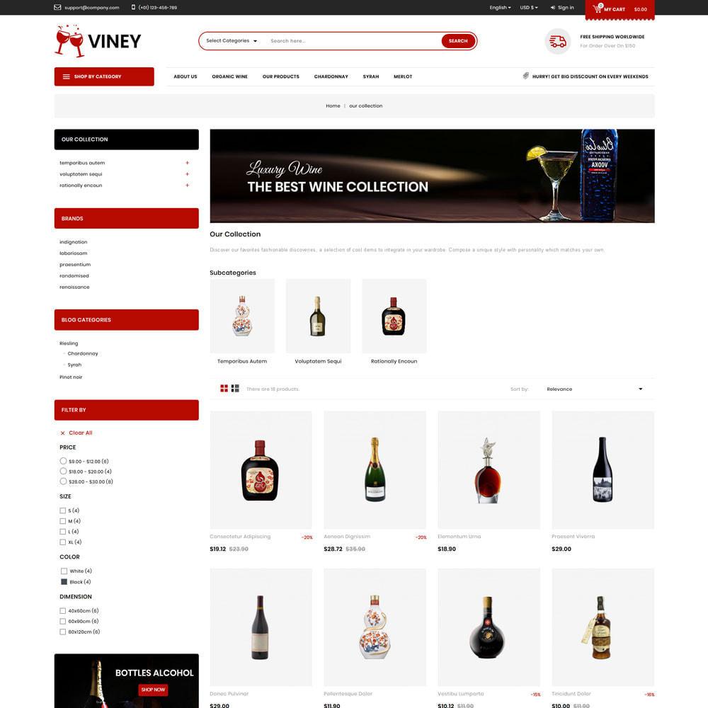 theme - Food & Restaurant - Viney - The Mega Wine Shop - 4