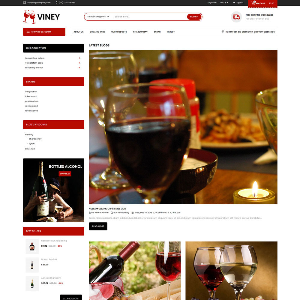 theme - Food & Restaurant - Viney - The Mega Wine Shop - 7