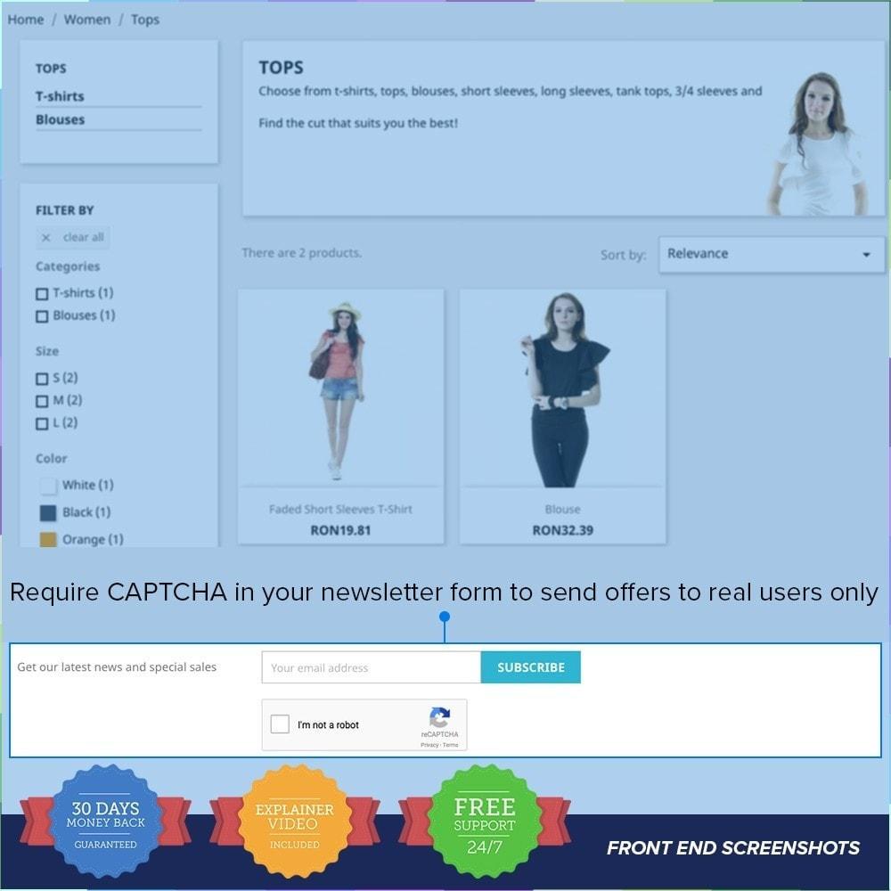 module - Seguridad y Accesos - reCAPTCHA PRO - Simple - Seguro - 3