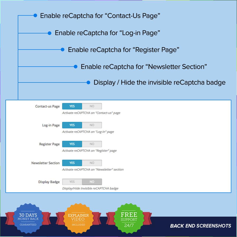 module - Security & Access - reCAPTCHA PRO - Semplice - Sicuro - 7
