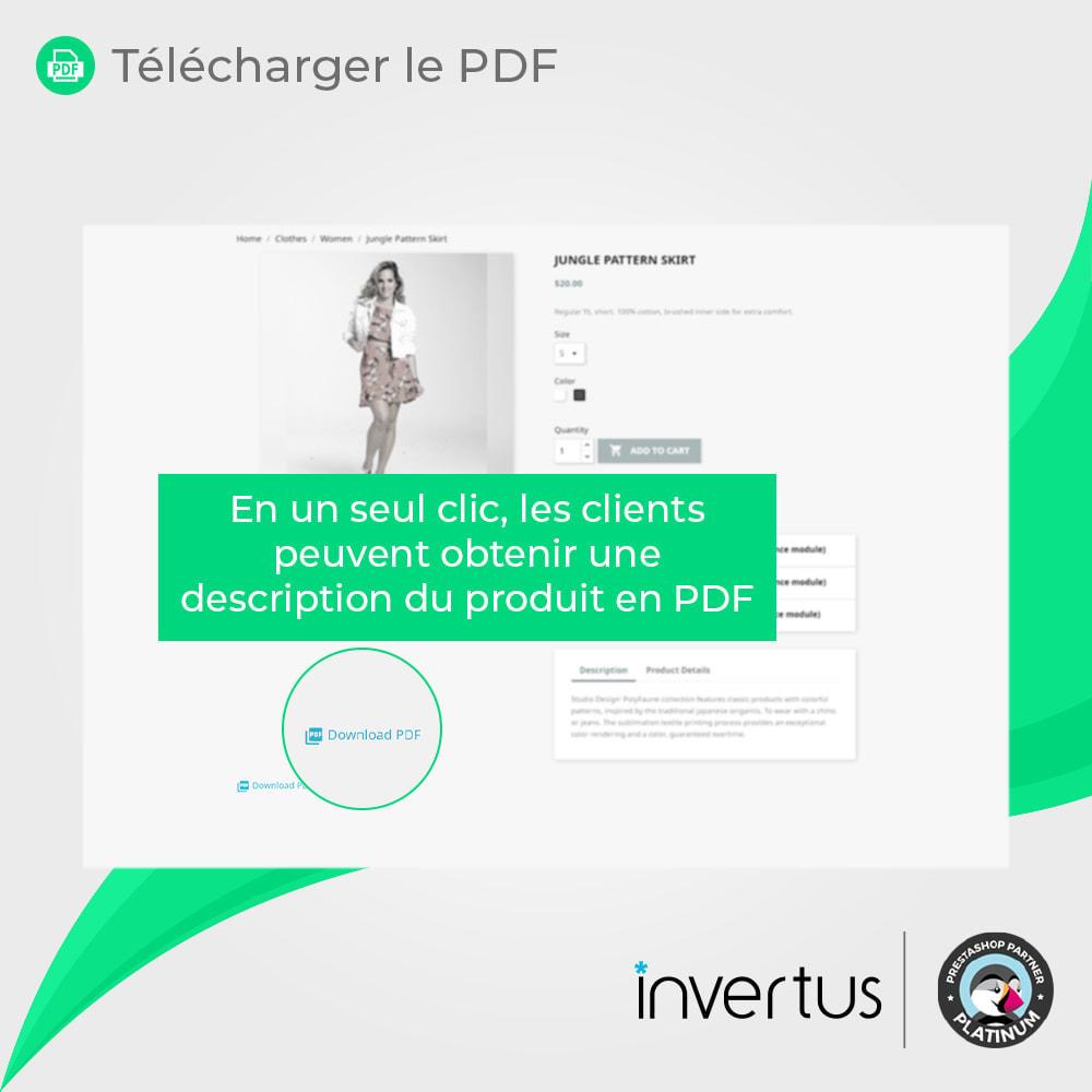 module - Information supplémentaire & Onglet produit - Produit au format PDF simple - 3