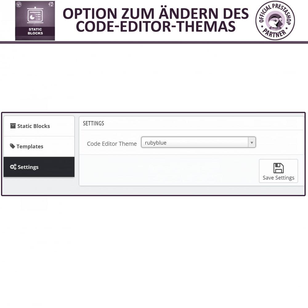 module - Blocks, Reiter & Banner - Statische Blöcke - Fügen Sie HTML- und Textblöcke hinzu - 14