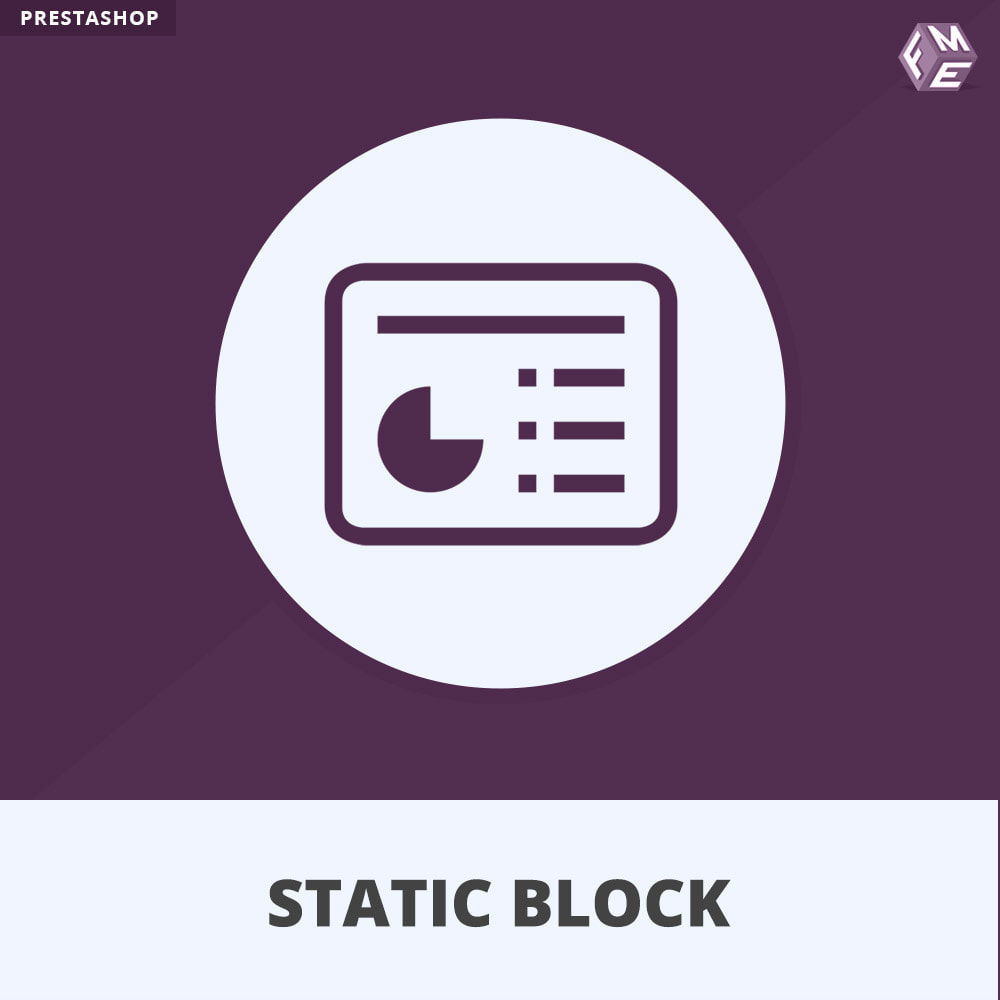 module - Blocchi, Schede & Banner - Blocchi Statici - Aggiungi HTML, Testi e Media Blocchi - 1