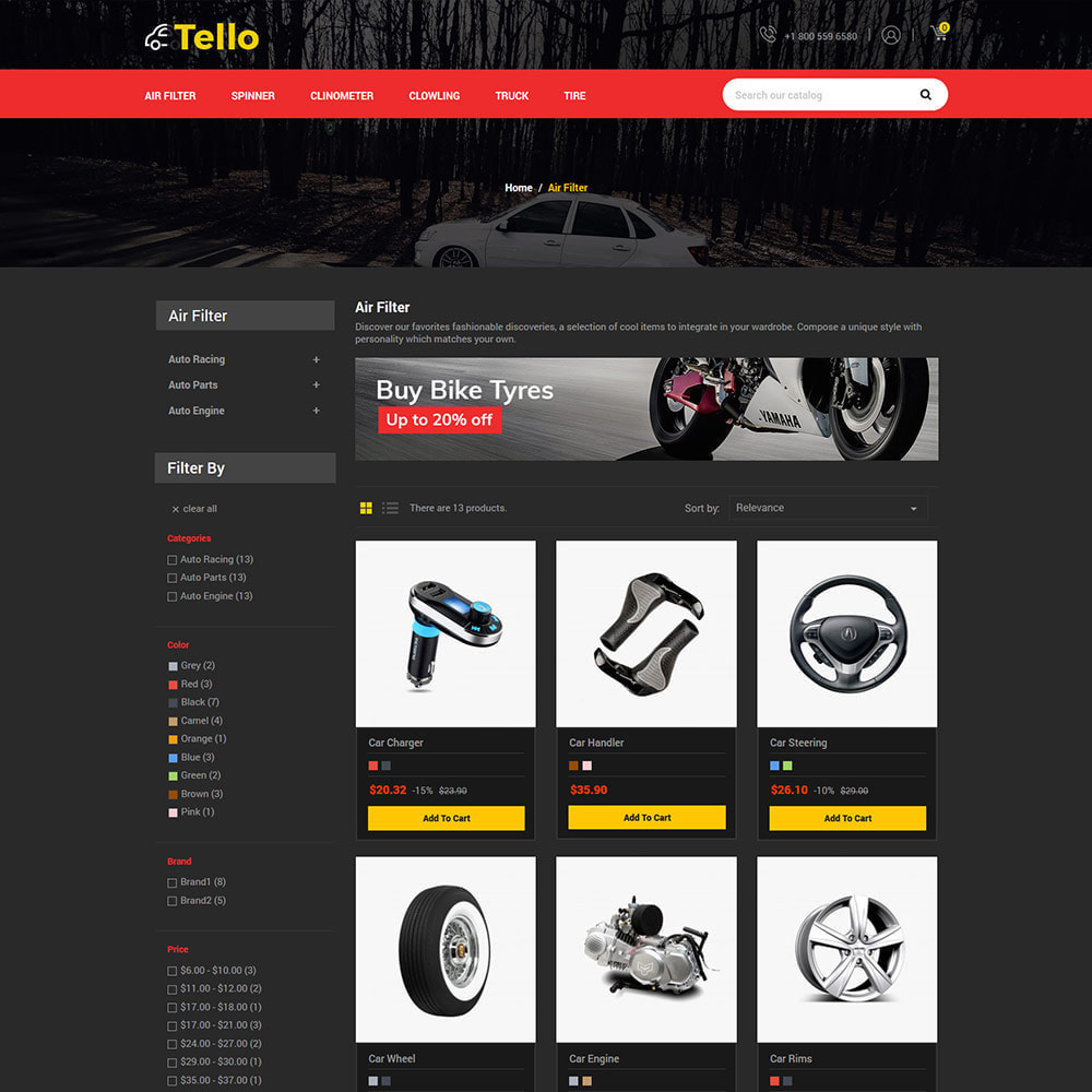 theme - Coches y Motos - Auto Moto - Tool Car Spare Wheel Store - 3