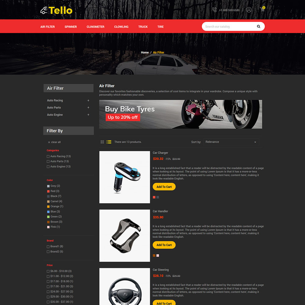 theme - Coches y Motos - Auto Moto - Tool Car Spare Wheel Store - 4