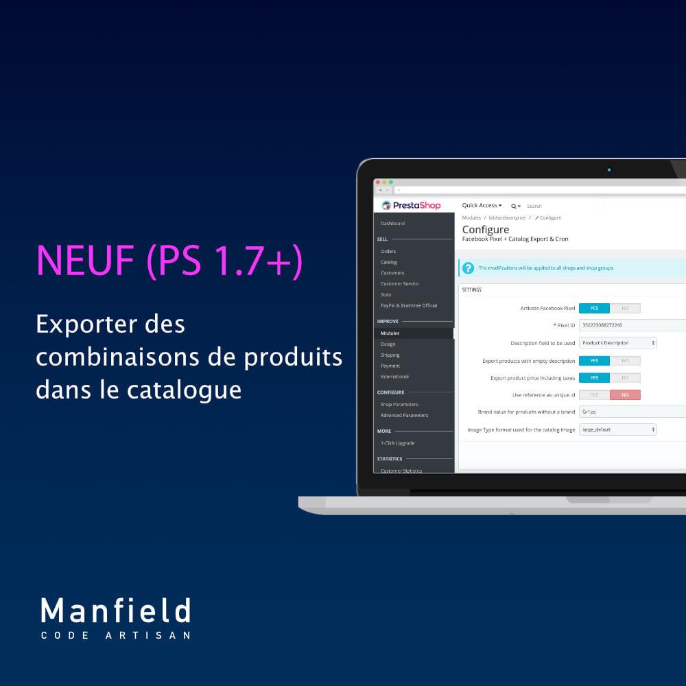 module - Produits sur Facebook & réseaux sociaux - Facebook Pixel + Track E-commerce + Catalogo e Cron - 2