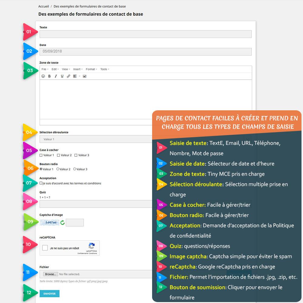 module - Formulaires de Contact & Sondages - Contact Form 7 – Générateur de formulaires de contact - 2