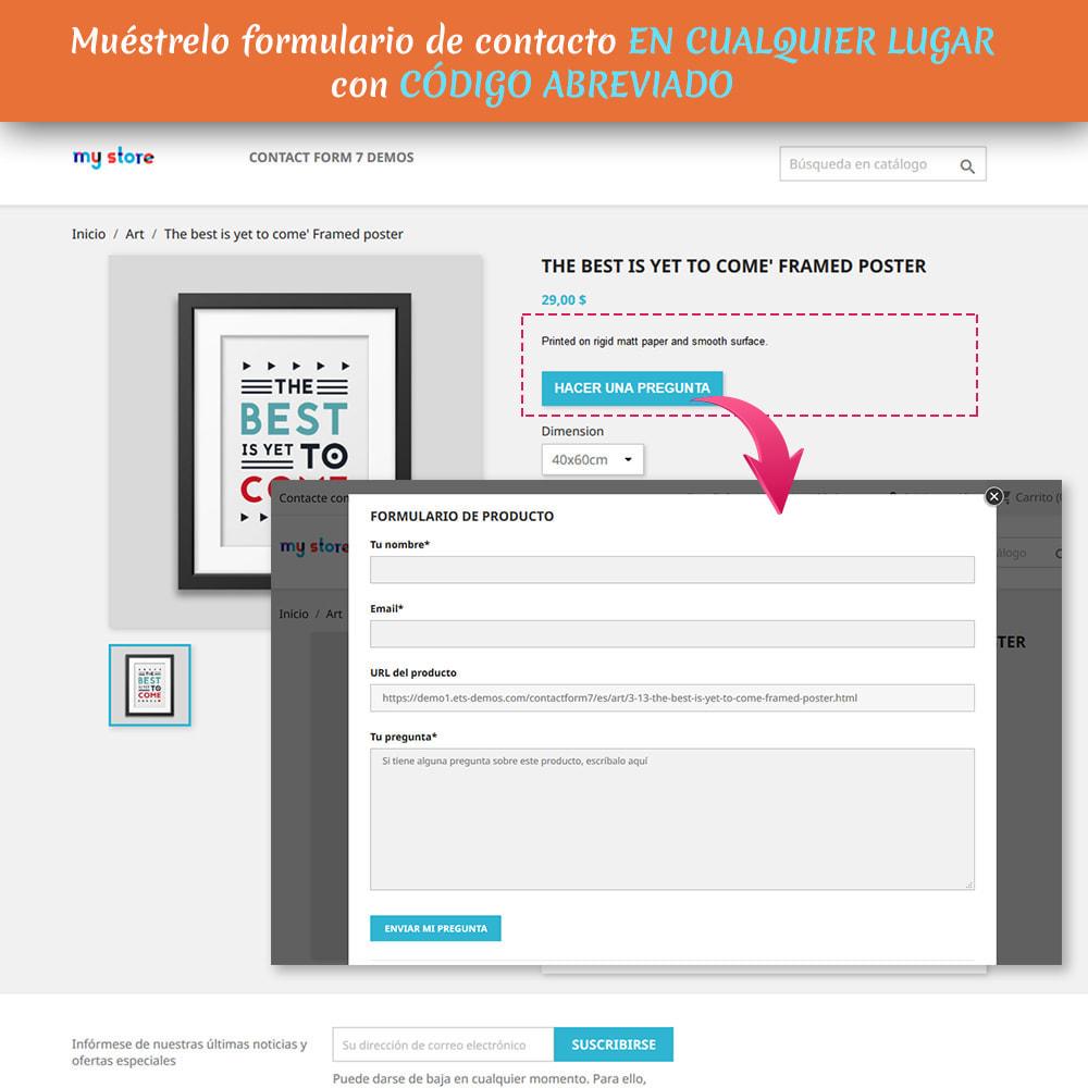 module - Formulario de contacto y Sondeos - Contact Form 7 – Generador de formularios de contacto - 3