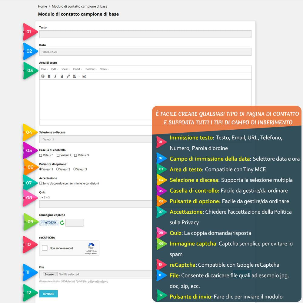 module - Form di contatto & Questionari - Contact Form 7 – Creatore di moduli contatto flessibili - 2