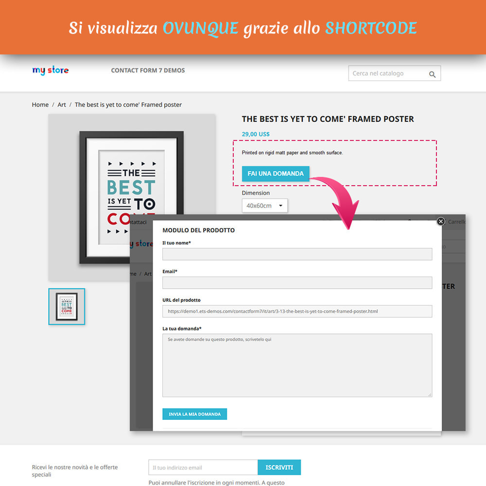 module - Form di contatto & Questionari - Contact Form 7 – Creatore di moduli contatto flessibili - 3