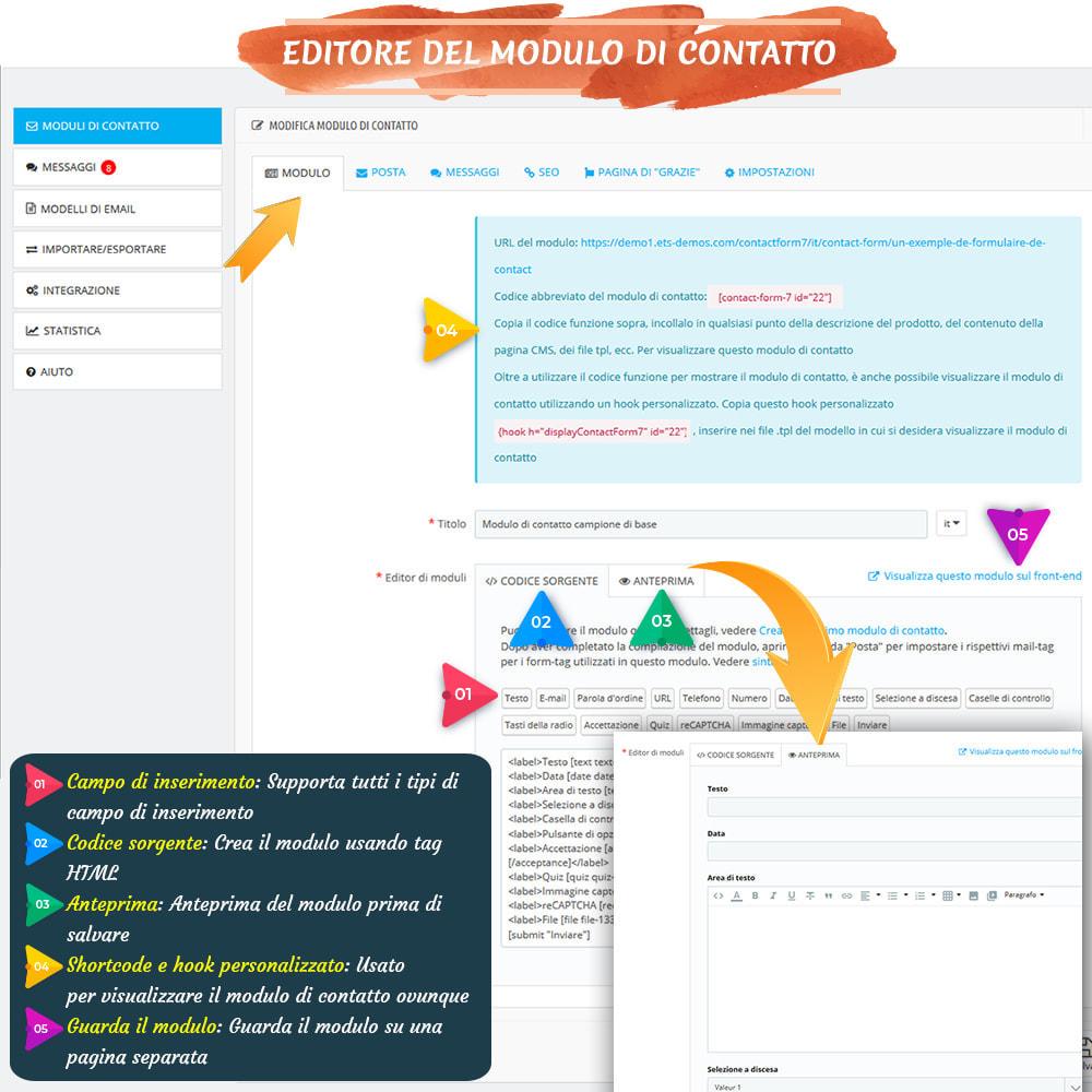 module - Form di contatto & Questionari - Contact Form 7 – Creatore di moduli contatto flessibili - 6