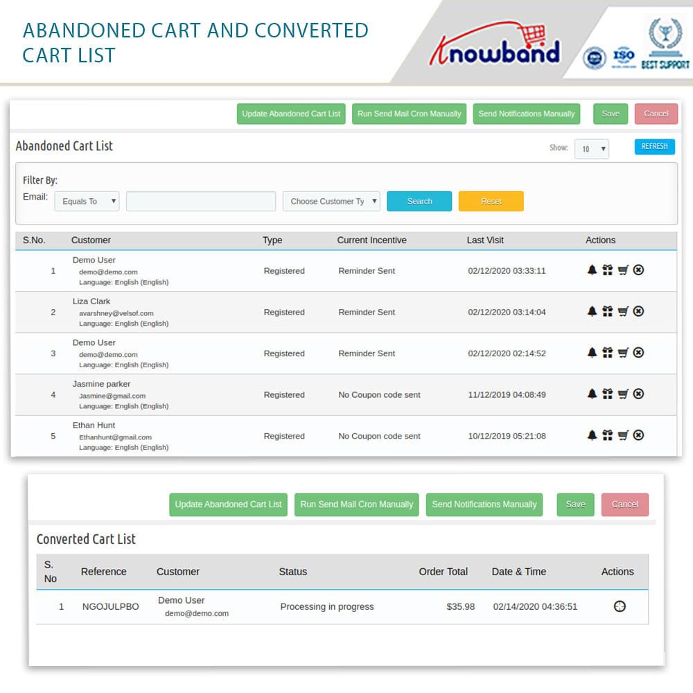 module - Remarketing & Carrelli abbandonati - Knowband-Reminder Periodici Carrello Abbandonato(Smart) - 18