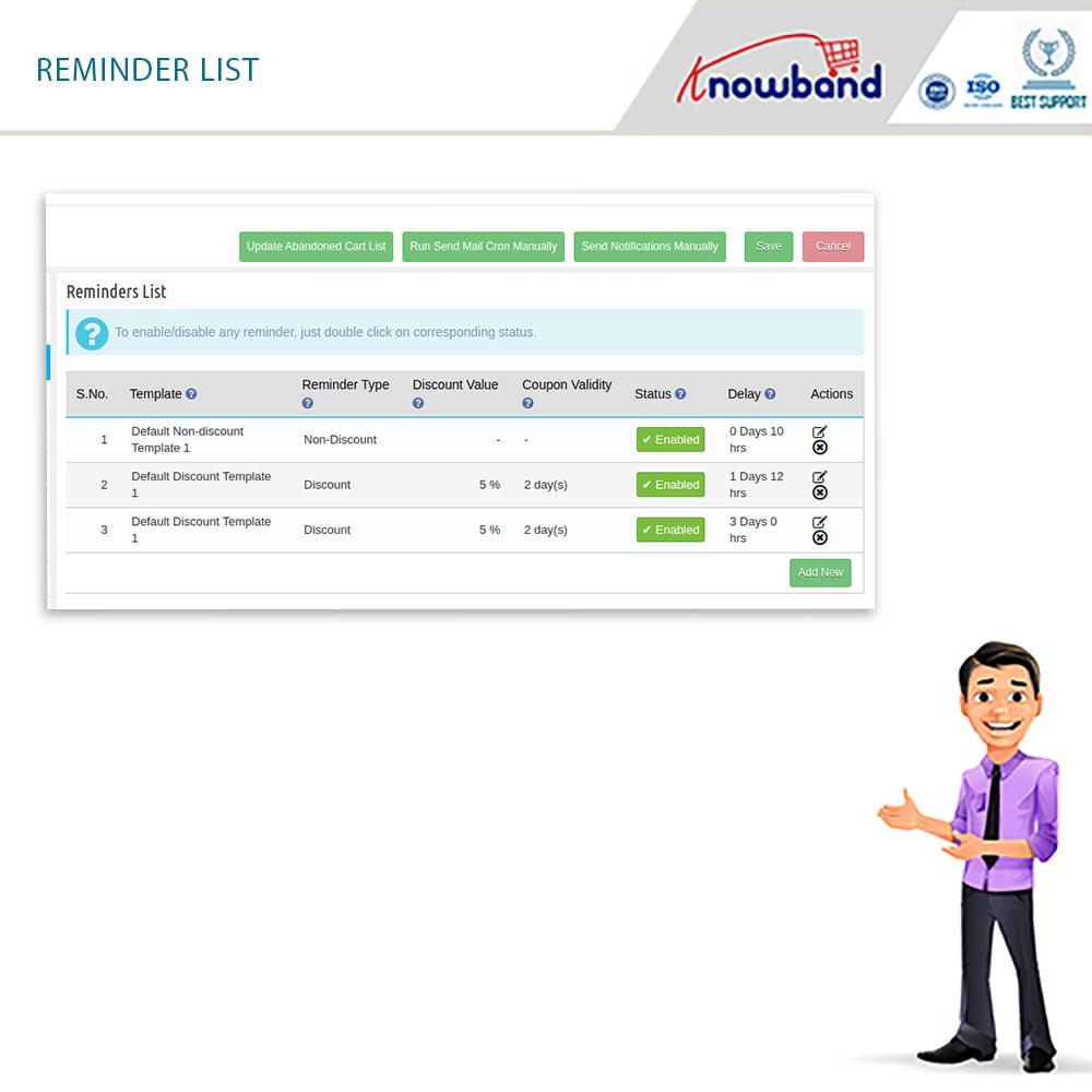module - Remarketing & Opuszczone koszyki - Knowband - Abandoned Cart Serial Reminders (Smart) - 12