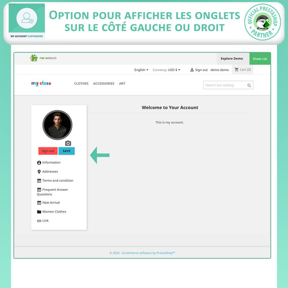 module - Outils d'administration - Personnalisateur De Mon Compte - 2