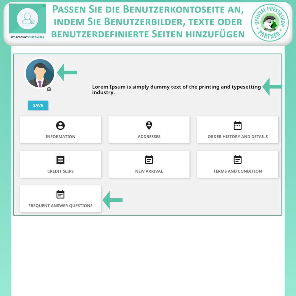 module - Administrationstools - Meine Konto-Anpassung - 3