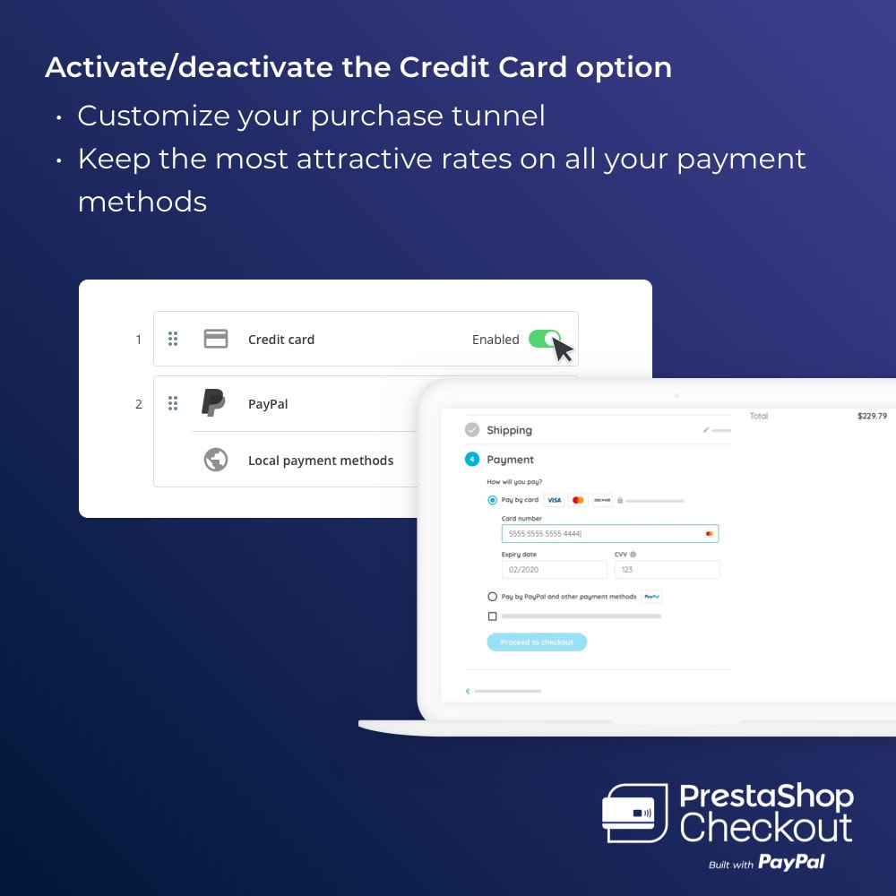 module - Creditcardbetaling of Walletbetaling - PrestaShop Checkout built with PayPal - 7