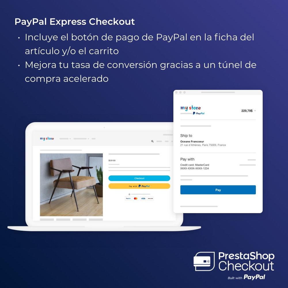 module - Pago con Tarjeta o Carteras digitales - PrestaShop Checkout 2.0 built with PayPal - 7
