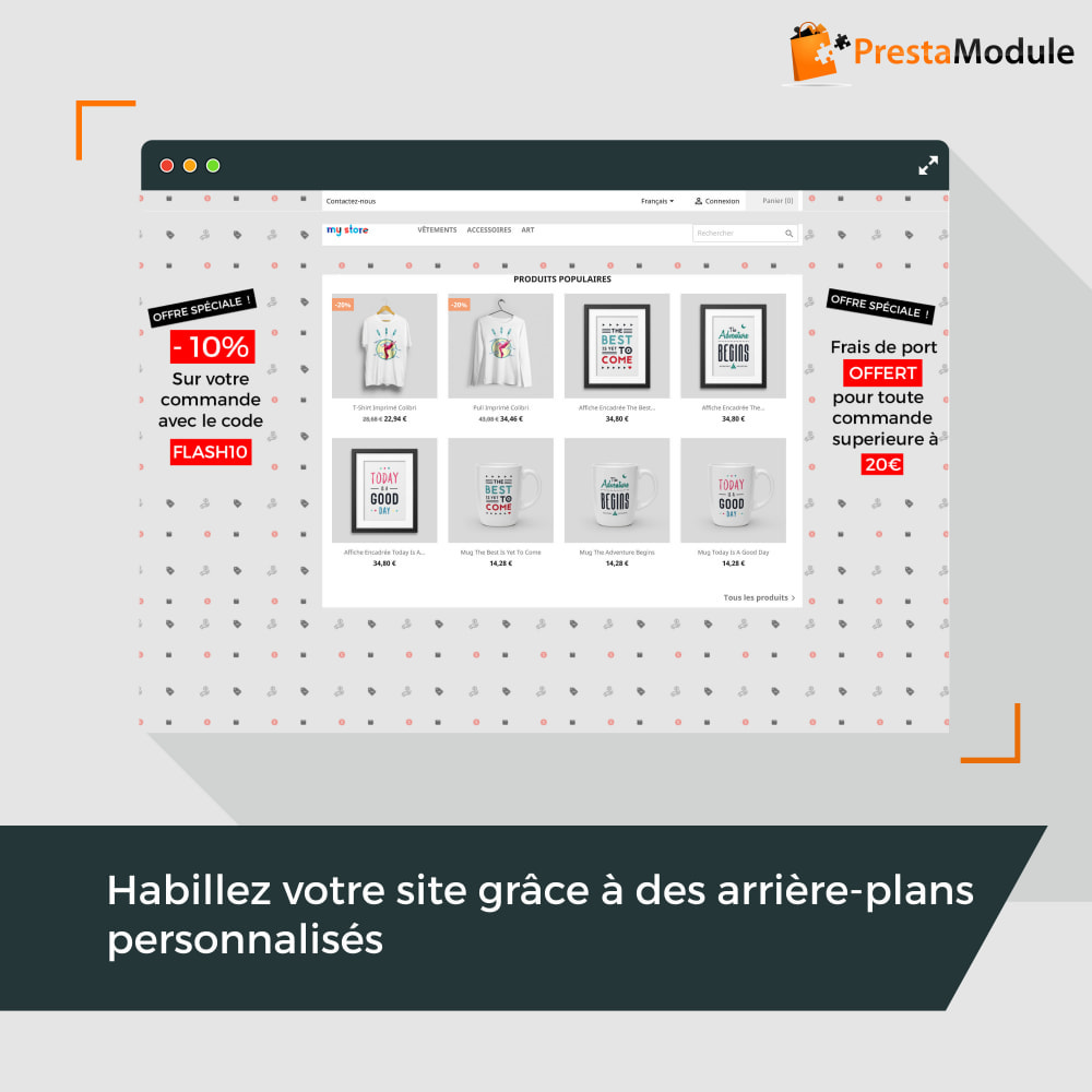 module - Personnalisation de Page - Advanced Background Changer - 1