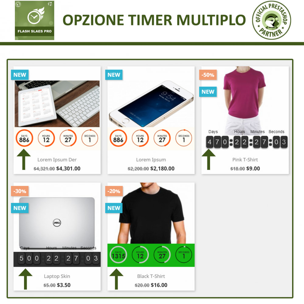 module - Flash & Private Sales - Vendite Flash con Timer di Conto alla Rovescia - 3