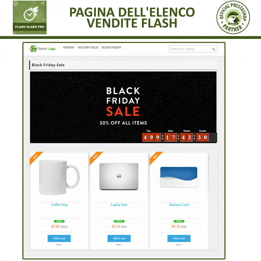 module - Flash & Private Sales - Vendite Flash con Timer di Conto alla Rovescia - 5