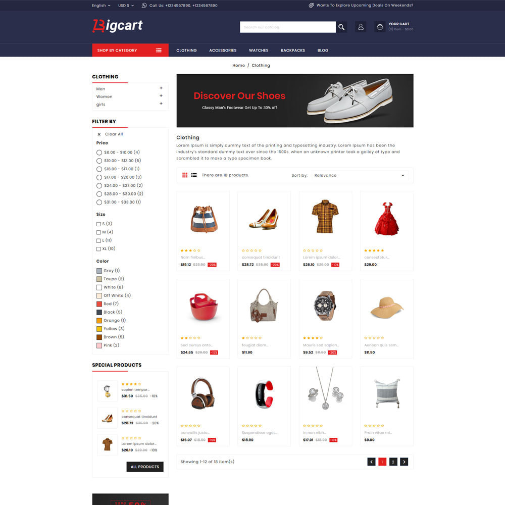 theme - Mode & Schuhe - Bigcart Fashion Store - 3
