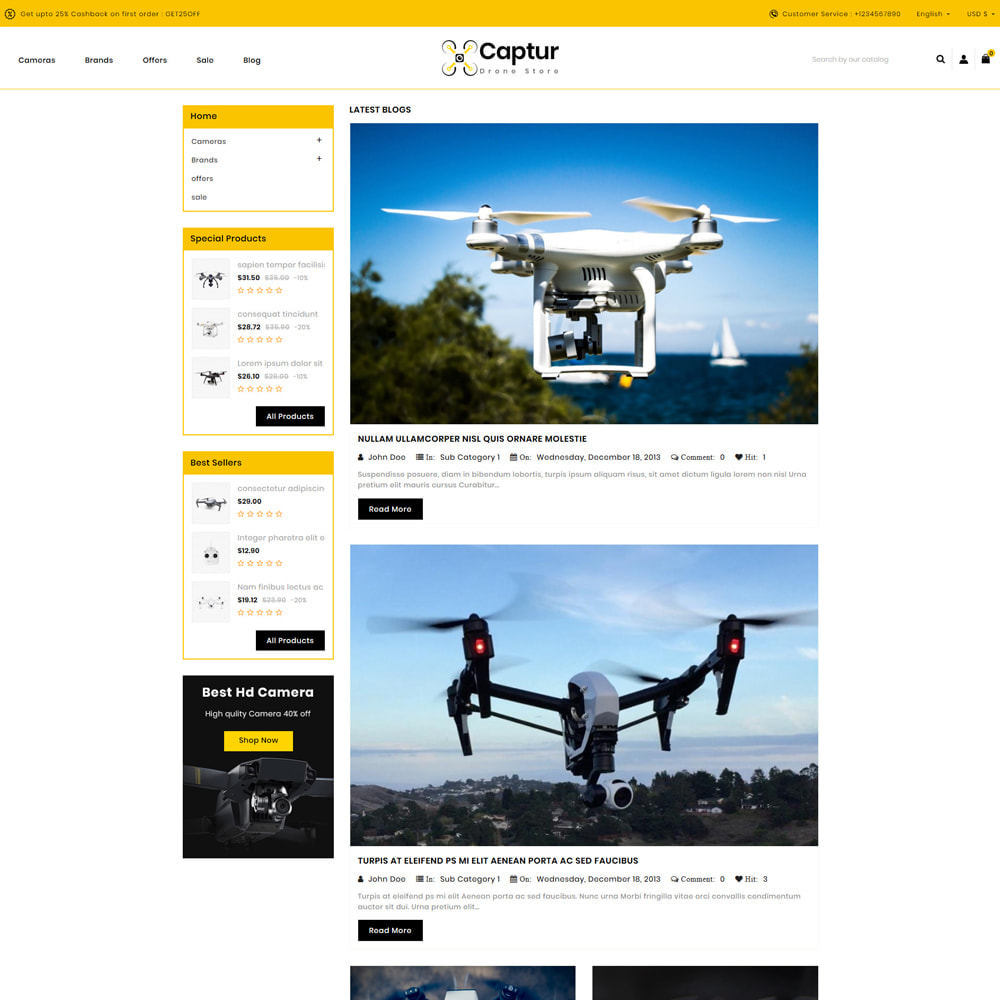 theme - Elektronica & High Tech - Captur Drone Shop - 5
